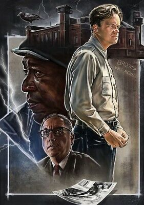 SHAWSHANK REDEMPTION Movie PHOTO Print POSTER Textless Film Art Tim Robbins 003
