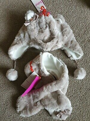 Girls Ted Baker Hat And Scarf Set Age 3-6 Years New with Tags