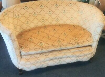 Antique curved sofa couch loveseat