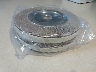 "8"" X 2"" X 1"" Center Hole Unmounted Flap Wheel 60 Grit"