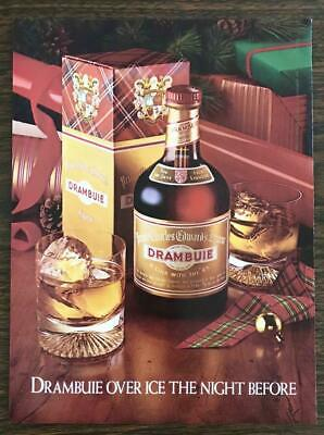 1981 Drambuie Scotch Liqueur Christmas Print Ad Over Ice the Night Before