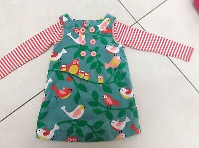 Boden Girls Corduroy Pinafore Dress And Top 2-3y