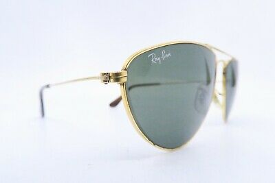 Vintage B&L Ray Ban sunglasses USA 59-16 etched BL w/decal men's medium