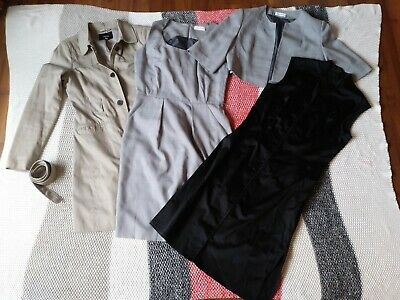 CALVIN KLEIN DRESS 2 PIECE and Jacob sheath dress + trench coat size 8 10 LOT