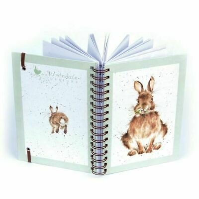 Wrendale Designs Hare Illustrated Spiral Bound Notebook - Stationery Gift Idea