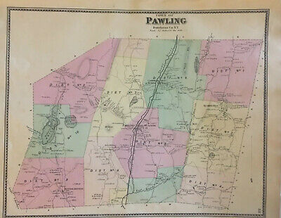 Town of Pawling, Dutchess County, NY 1867 Lithograph, F. W. Beers