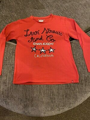 Boys Girls Levis Red Long Sleeve Top Age 8