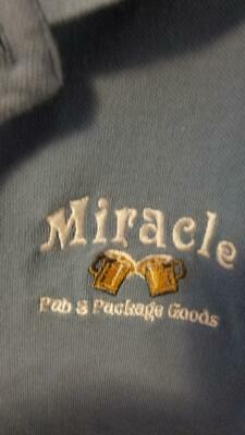 Toms River NJ Miracle Bar Michelob Ultra Beer Employee Knit Shirt Size L Large