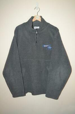 Mens Vintage Grey Ford Stewart Grand Prix 1/4 Zip Neck Fleece Jumper Uk Medium