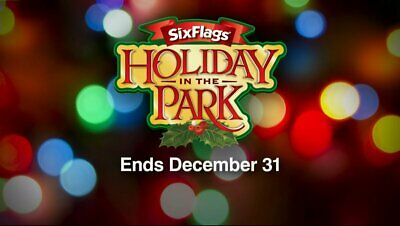 Six Flags Single Day General Admission Ticket Good Thru December 31