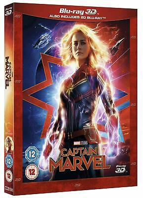 Captain Marvel 3D Blu-ray 2D + 3D Disney Marvel Region Free New.