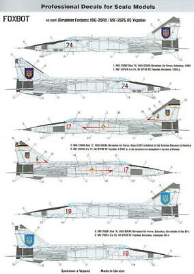 Assembled model 80119 1//48 Russian MiG-25PD//PDS flying fox fighter