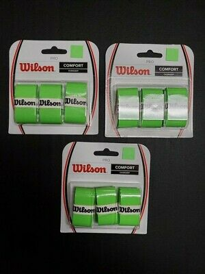 3 Pieces of 3 Pack Wilson Pro Overgrip Green Color Blade Color