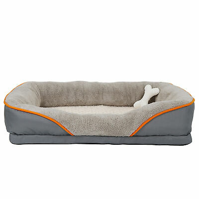 Orthopedic Dog Bed Sofa Memory Foam Lounge w/Removable Cover & Toy HIGH-QUALITY
