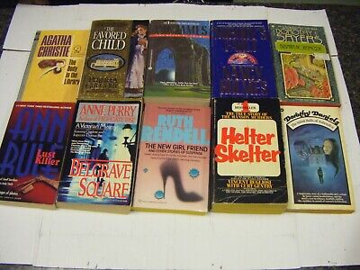 Lot of 10 Mystery Suspense Thriller Crime Murder Detective Paperback