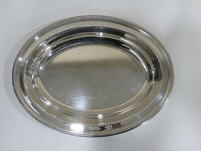 Christofle Silver Plated Oval Serving Tray, FRANCE