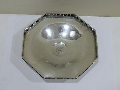 Antique Vintage Dominic & Haff Sterling Silver Octagon Dish, 217 grams
