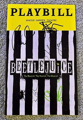 Cast signed Beetlejuice *Opening Night* playbill - *Broadway* Sophia Anne Caruso