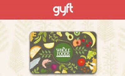 $150 Whole Foods Gift Card EMAIL & MAIL DELIVERY Free Shipping