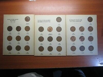 Half Penny Set 30 Coins Collection Copper New Zealand Bulk 1940 TO 1964