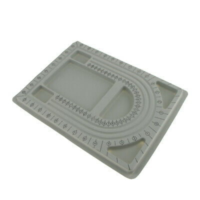 Bead Design in Beading Board and Gray Flock DIY Jewelry Making Craft Tray