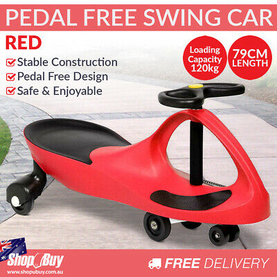 Swing Car Kids Ride On Toy Pedal Free Swivel Slider Safe Speed Wiggle Scooter...