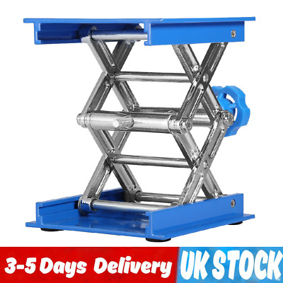 "4"" Lab Lift Lifting Platform Aluminum Stand Rack Scissor Jack Bench Lifter Table"