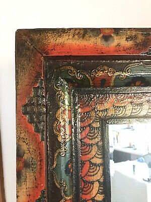Antique Chinese Mirror.... Solid Wood... Stunning mirror.