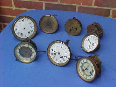 8 x  VICTORIAN FRENCH CLOCK MOVEMENTS : JAPY FRERES MARTI