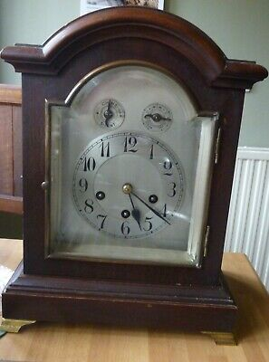 A  Fine Jungans Bracket Clock With Westminster Chime