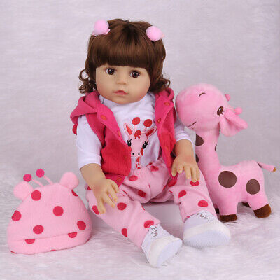 "20"" Reborn Baby Dolls Full Body Vinyl Silicone Doll Anatomically Girl Xmas Gifts"