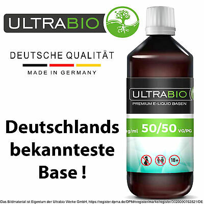 Liquid Base 1000ml ⭐ 1 Liter E Liquid Base 50/50 & 70/30, Für Nikotin Shots 20mg