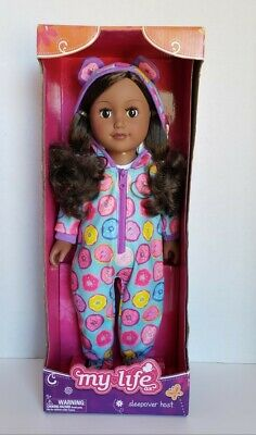 My Life As 18-inch Sleepover Host Doll, African American, NEW