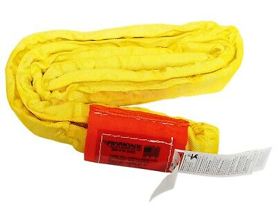 USA DOMESTIC 4' YELLOW Endless Round Lifting Sling Crane Rigging Recovery