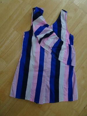 M&S girls pink white blue stripe summer shorts playsuit all in one AGE 8 - 9 Y