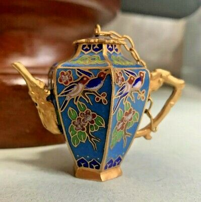 Antique Japanese Cloisonne Miniature Vase Jug Teapot