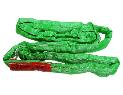 USA DOMESTIC 4' GREEN Endless Round Lifting Sling Crane Rigging Recovery