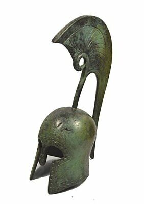 Ancient Greek small bronze Helmet with high crest reproduction artifact