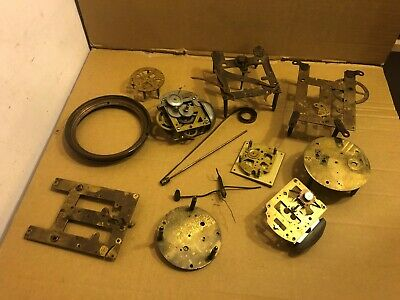 Selection of Vintage Clock Spare Parts, Movements etc