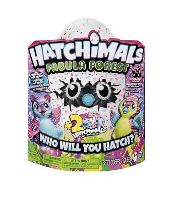 *NEW* Hatchimals Fabula Forest Hatching Egg With 2 BONUS collEGGtibles Season 4
