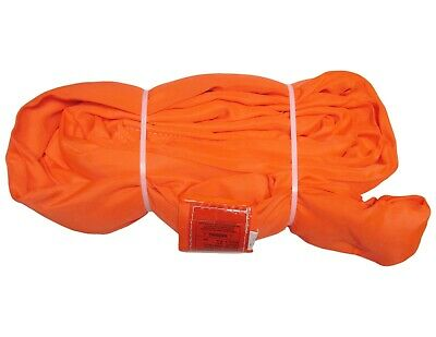 USA DOMESTIC 12' ORANGE Endless Round Lifting Sling Crane Rigging Recovery