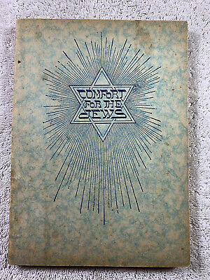 1925 Comfort for the Jews Rare PB JF Rutherford Jehovah Watchtower IBSA Original