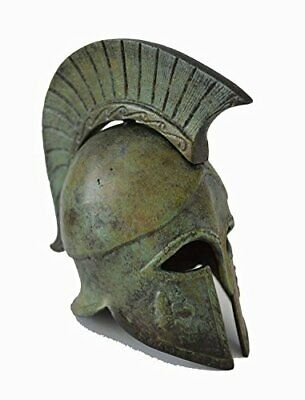 Bronze Griffin Helmet with carvings ancient Greek small reproduction artifact