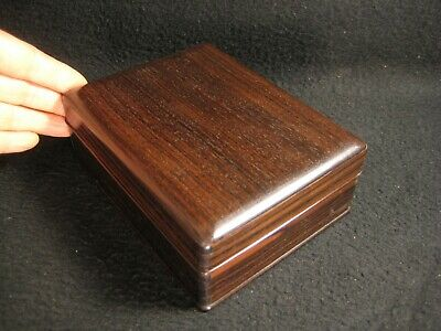 VINTAGE CHINESE c. 1930 HAND CRAFTED HONGMU ROSEWOOD CIGARETTE BOX