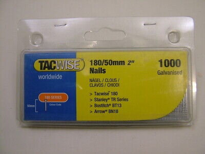 2nd fix collated galvanised straight brad finish nails 18 gauge 50mm box of 1000