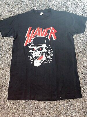 SLAYER WARRIOR SKULL BLACK METAL MEN's T SHIRT SIZE M