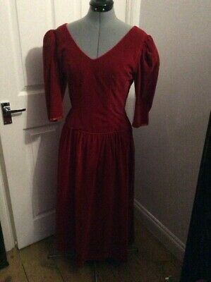Red Velvet True Vintage 80's Dress