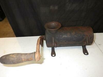 Hand Crank Antique Cast Iron Tobacco Chopper Shredder Cutter Grinder Old WORKS