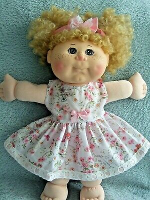 "14"" CABBAGE PATCH Dolls Clothes / DRESS & HEADBAND / pink flower * butterflies"