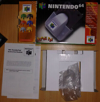 Box and Instructions Only for Rumble Pak N64 – Genuine AU Version